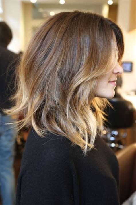 light brown shoulder length hair i want this but dark brown to light auburn and more layers