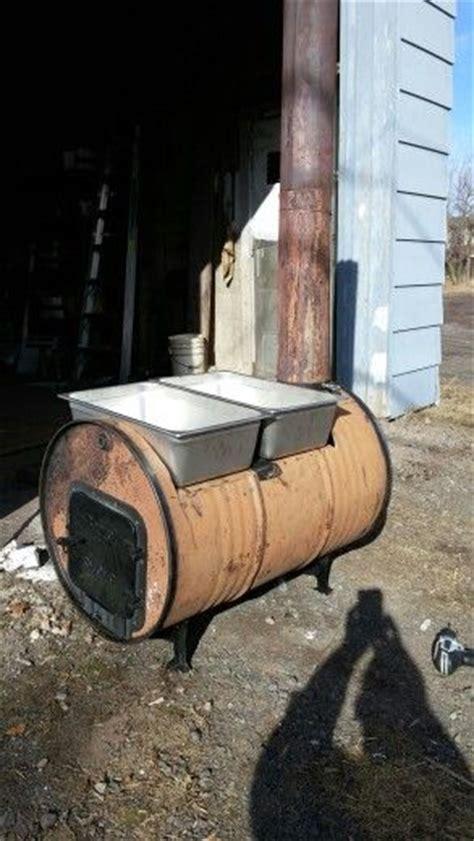 maple syrup boiler     gallon barrel wood