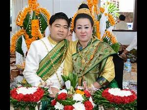 Lao Traditional Wedding Ceremony - YouTube  Traditional