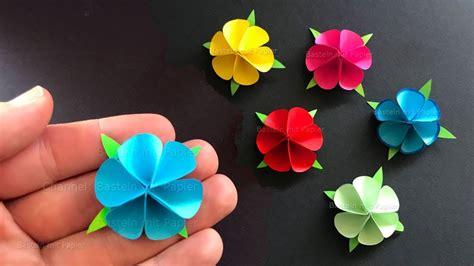 basteln aus papier basteln mit papier blume als geschenk selber machen origami bastelideen