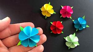 Geschenk Selber Basteln : basteln mit papier blume als geschenk selber machen doovi ~ Watch28wear.com Haus und Dekorationen