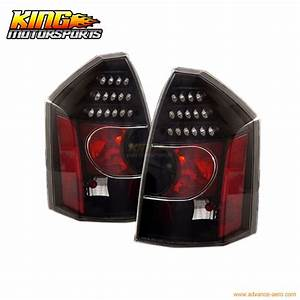For 2005 2007 06 Chrysler 300 300c Led Tail Lights Black