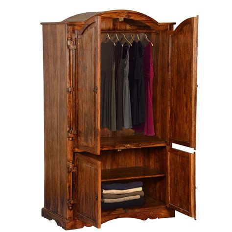 Wood Armoire Closet by Modern Solid Wood 2 Section Rustic Armoire Closet