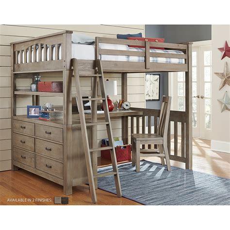 kids loft bed and desk ne kids highlands full loft bed with desk bedroom