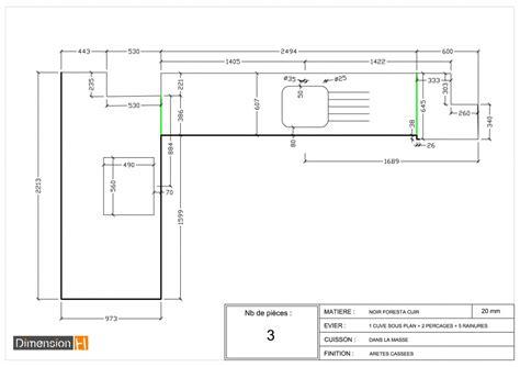 largeur plan travail cuisine largeur d un plan de travail cuisine plan de travail
