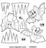 Cave Clipart Bats Coloring Illustration Formations Bat Purple Caves Eyes Vector Outlined Visekart Royalty 31kb 470px Drawings sketch template