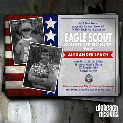 eagle scout court  honor invitation flag