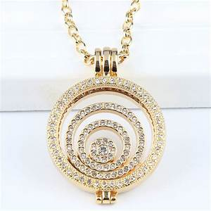Interchangeable Necklace 33MM Coin Holder Necklace Full ...