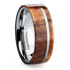koa wood wedding rings 39 s tungsten koa