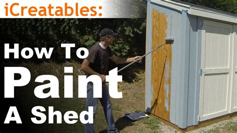 how to build a r for shed how to build a lean to shed part 10 painting