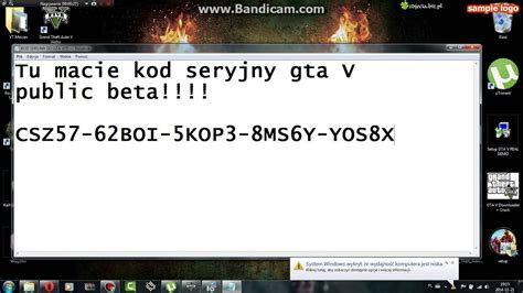 kod seryjny  gta  public beta youtube