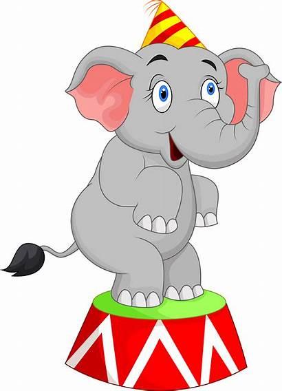 Circus Carnival Clip Elephant Cartoon Clipart Homecoming