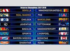 Calendario Octavos Champions League 20172018 Partidos y