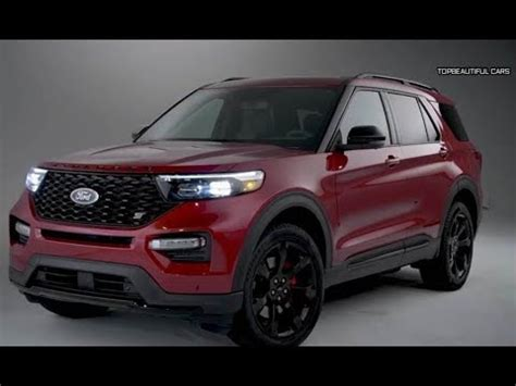 ford explorer st red specs  engines youtube