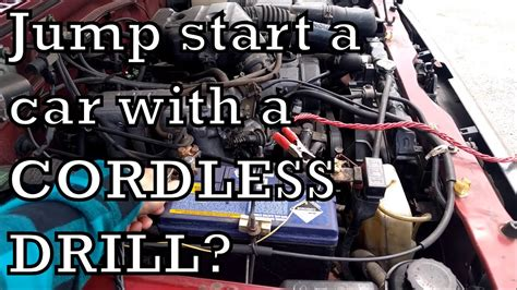 Jump Start Your Car With A Cordless Drill Battery!