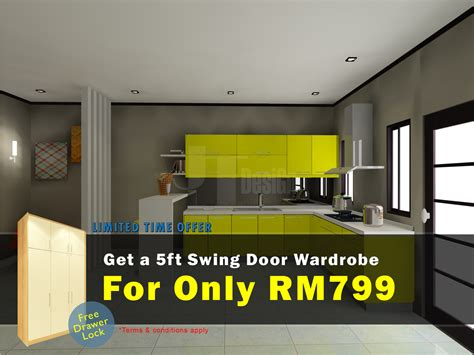 kitchen cabinet promotion price get a 5 wardrobe at rm799 only promotion jt design