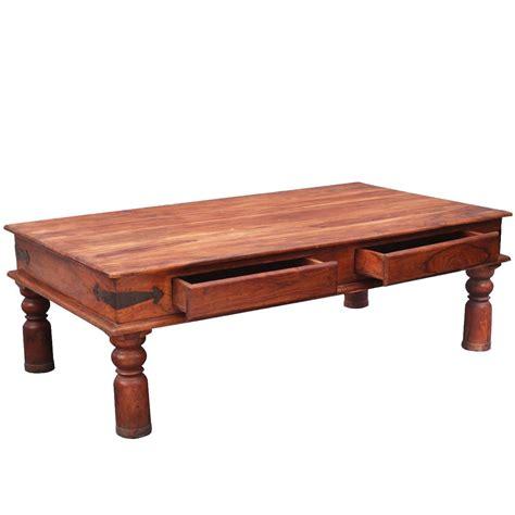 Paspauskite nuotrauką, kad ją padidintumėte. Rustic Wood Light-Washed Coffee Table w Drawers
