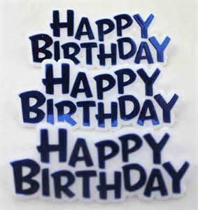 Blue Happy Birthday Sign