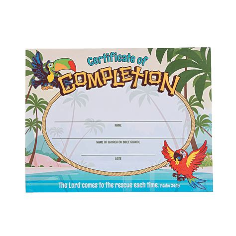 Island Vbs Certificates Of Completion Stuff I Designed For Work Certificate And