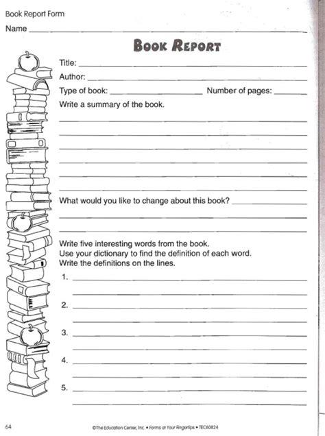 love  teach book report worksheet teacher student