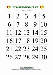 Printable Numbers Chart 1