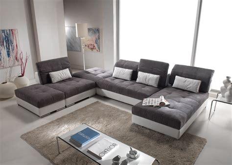 canapé plan de cagne canapé d 39 angle modulable en cuir et tissus modèle edition