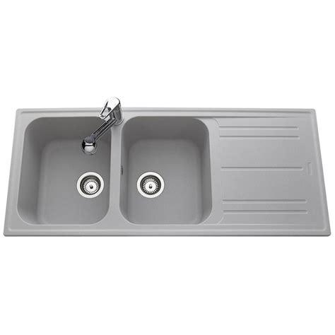 douchette cuisine kit cuisine design évier 2 bacs en granit gris holyday