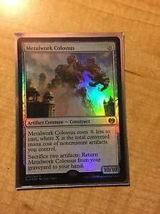 magic  gathering mtg metalwork colossus rare foil