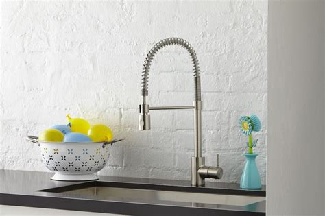 kitchen faucet stainless steel foodie pre rinse high arc kitchen faucet