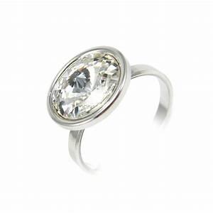 bijou bague rivoli pour femme en argent et cristal de With bijoux bague