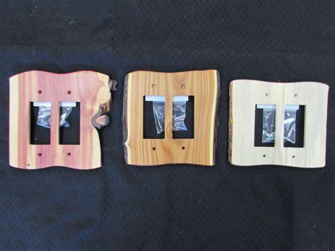 rustic wood gfi rocker plate covers sisters log furniture