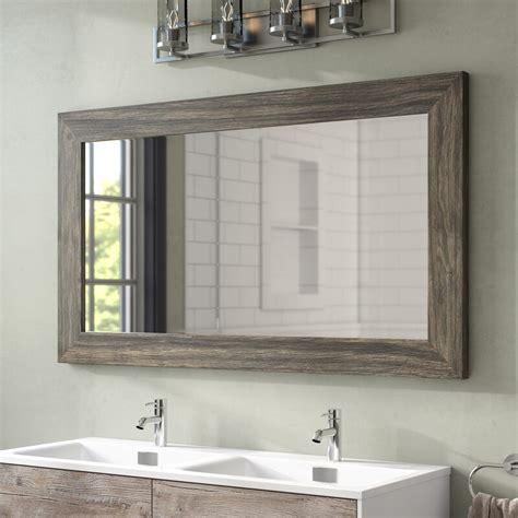 union rustic landover barnwood bathroom mirror reviews
