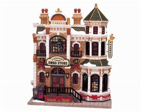 lemax christmas village collection evergreen drug store