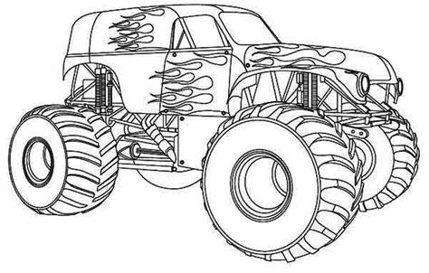 monster truck videos for kids online nonsensical monster truck outline coloring pages for kids