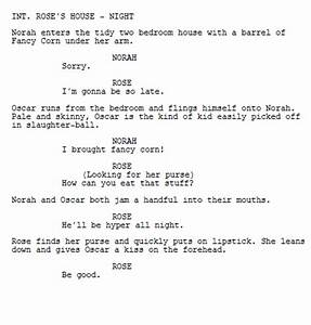 screenplay format basics in five minutes the absolute With camera script template