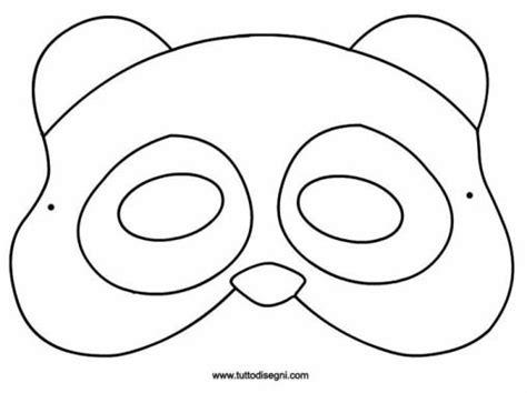 disegni oratorio da colorare maschera panda da colorare farsang escoteiros