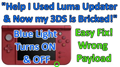 Turn On My Light by Help My 3ds Blue Light Turns On I Used Luma