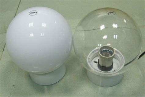 outdoor lighting uvioresistant acrylic glass globe light