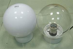 Plastic globes for outdoor lights as your own personal