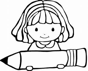 Girl Thinking Clipart Black And White ClipartXtras