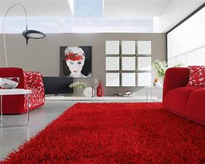 Contemporary rugs for your living room for Red living room rug