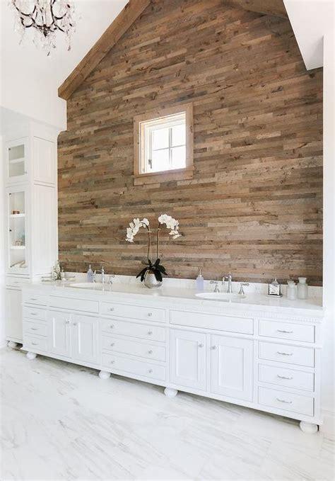 plank wall bathroom cottage bathroom with plank accent wall cottage bathroom