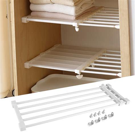 closet divider borad kitchen telescopic storage shelf wardrobe partition rack  ebay