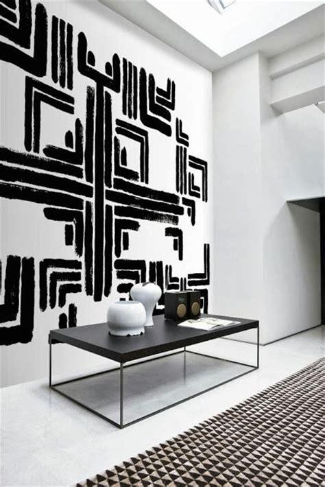 black white geometric art interiors  color