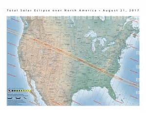 August 2017 Solar Eclipse Map