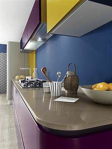 Couleur Cuisine Moderne : d co cuisine moderne 50 propositions en couleurs vives ~ Melissatoandfro.com Idées de Décoration