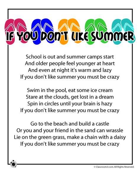 summer poems 818   summer kids poem crazy
