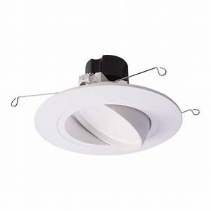 Halo 5 In  And 6 In  Matte White Recessed Led Adjustable