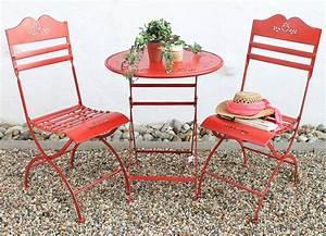 Gartentisch Und Stühle Set : sitzgruppe passion tisch mit 2 st hle set aus metall rot gartenstuhl gartentisch 4029945186200 ~ Bigdaddyawards.com Haus und Dekorationen