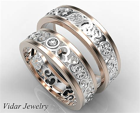 wedding band set his and hers his and matching ring vidar jewelry unique
